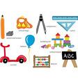 Kindergarten Toys vector image vector image
