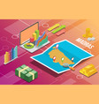 madras or chennai india city isometric financial vector image vector image