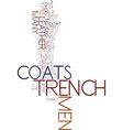 men s trench coats look classy and stay warm text vector image vector image