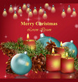 merry christmas card background happy vector image vector image