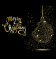merry christmas greeting card golden christmas vector image