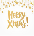 merry xmas card holiday greetings quote isolated vector image