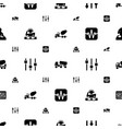 mixer icons pattern seamless white background vector image vector image