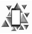 modern smartphone triangular background vector image vector image