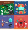 Movie Flat Icons Set vector image vector image