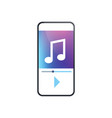 music player app interface smartphone screen vector image