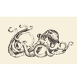 Octopus Vintage Hand Drawn Sketch vector image