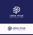 p abstract logo monogram template concept vector image vector image