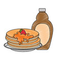 pancakes with maple syrup vector image vector image