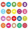 Passenger security flat icons on white background vector image