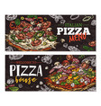 pizza house menu banner vector image