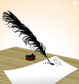 plume pen vector image vector image