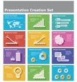 presentation elements vector image vector image