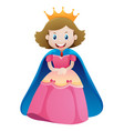 princess in pink dress vector image