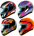 Racing Helmets Set vector image