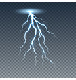 realistic lightning and thunder bolt vector image