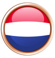 round icon for netherlands vector image vector image