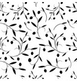seamless pattern of olive branches vector image