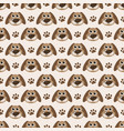 seamless pattern with cute dogs and paw prints vector image vector image