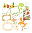 set cartoon food ingredient vector image