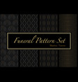 set dark patterns in gold and black colors vector image vector image