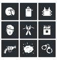 Set of Special Forces Icons Uniform vector image vector image