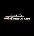 sport car logo template vector image vector image