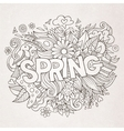 Spring hand lettering and doodles elements vector image