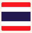 thailand square flag button social media vector image vector image