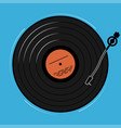 the vinyl player shown schematically and simply a vector image vector image