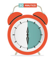 Thirty Minutes Stop Watch - Alarm Clock vector image vector image