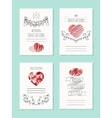 wedding card with drawn heart vector image vector image