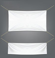 White banners with garters vector image