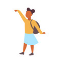 woman student standing with backpack african vector image vector image