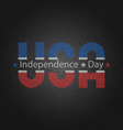 Retro poster american independence day greeting vector image