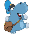 A little hippo postman Cartoon vector image vector image