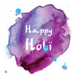 abstract holiday background happy holi colors vector image vector image