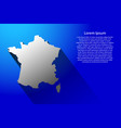 abstract map of france with long shadow on blue vector image vector image