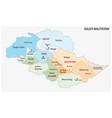 administrative map gilgit-baltistan pakistan vector image vector image