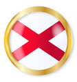 alabama flag button vector image