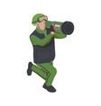 army isometric icon vector image