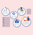 banner disease prevention and annual vaccination vector image vector image