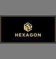 bf hexagon logo vector image vector image