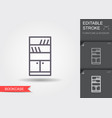 bookcase line icon with editable stroke vector image vector image