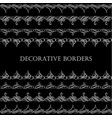 borders set collection in calligraphic retro style vector image