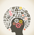 Brain and technology vector image vector image