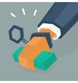 bribery is a crime vector image vector image