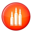Bullet ammunition icon flat style vector image vector image