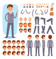 businessman constructor creation male vector image vector image