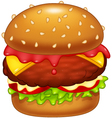 Cartoon burger vector image vector image